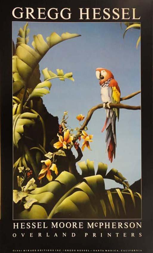 Gregg Hessel Parrot Rainforest poster