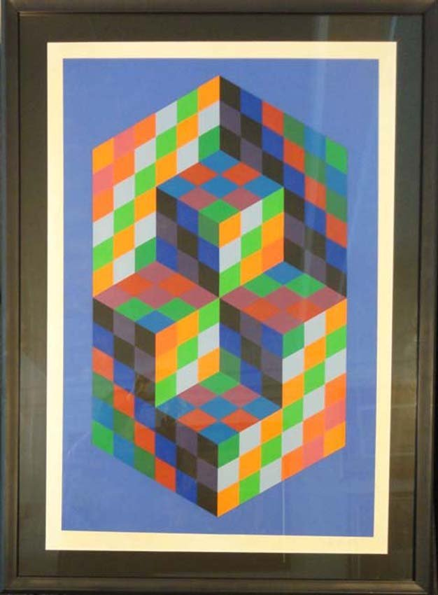 Geometric Op Art by Victor Vasarely