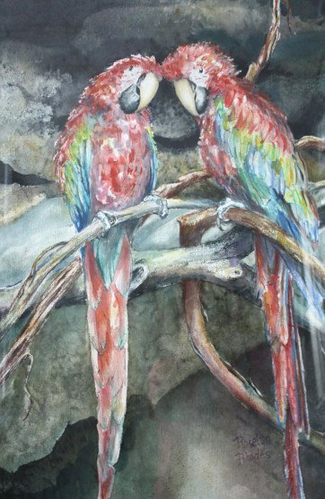 Parrot's Gossip by Roselyn Rhodes