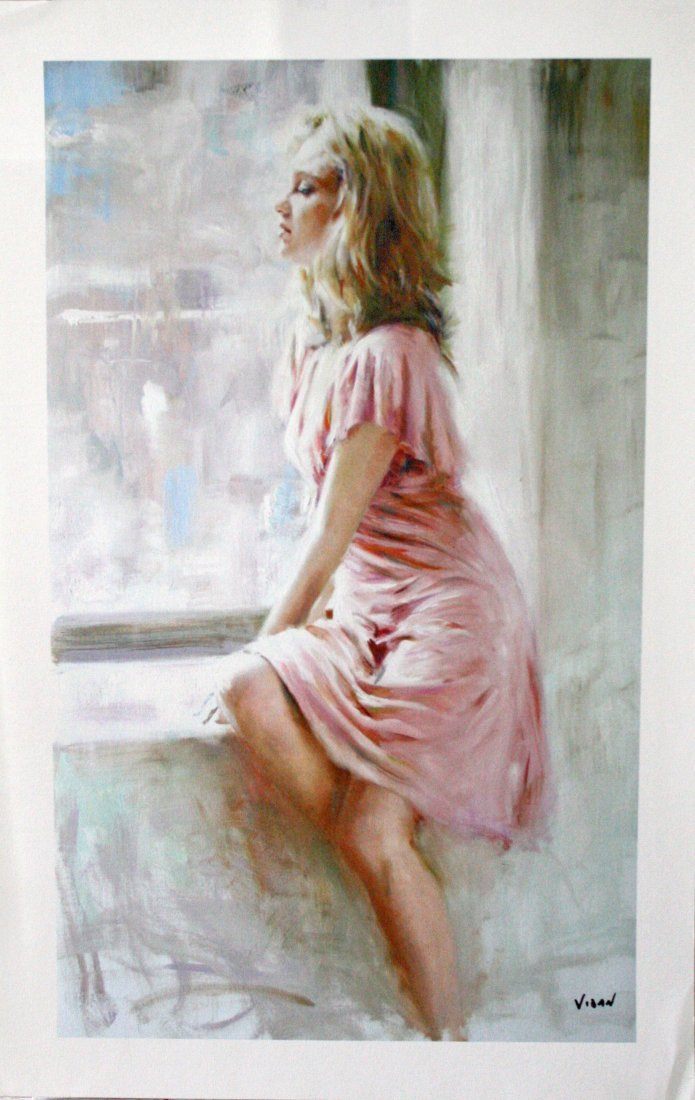 Woman in Pink Dress by Vidan