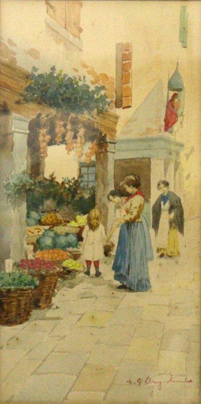 Market Scene by D. G Angelini