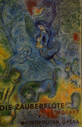 Die Zauberflote Mozart by Chagall