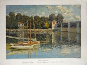Argenteuil Bridge by Claude Monet