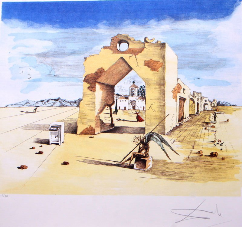 Paranoic Village by Salvador Dali