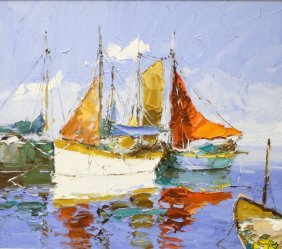 Harbor Scene by Erich Paulsen