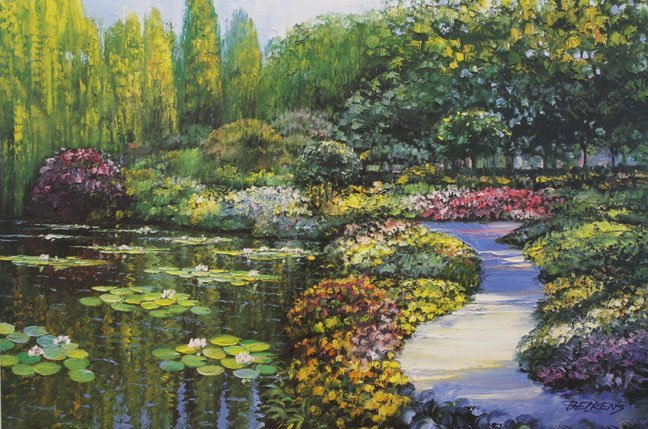 Monet's Garden by Howard Behrens