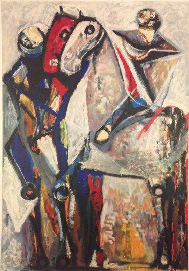 Zwei Reiter by Marino Marini