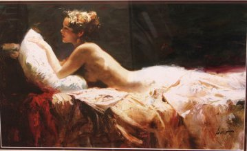 Woman in Bed by Pino Daeni