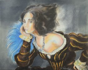 Woman in Thought by Unknown