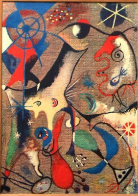 Abstract Composition after Joan Miro