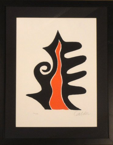 Abstract Lithograph by Alexander Calder