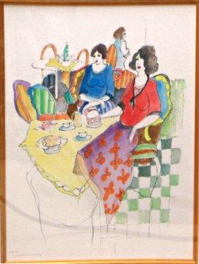 Afternoon Tea by Itzchak Tarkay