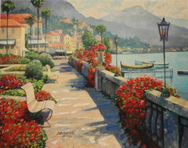 Along Lake Como I by Howard Behrens