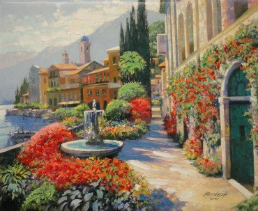 Along Lake Como II by Howard Behrens