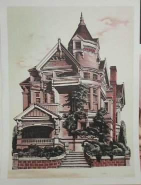 Victorian Mansion (print 290/325) by Russell