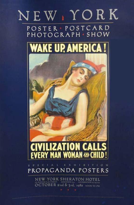 America Patriotic Propaganda Exhibition Poster