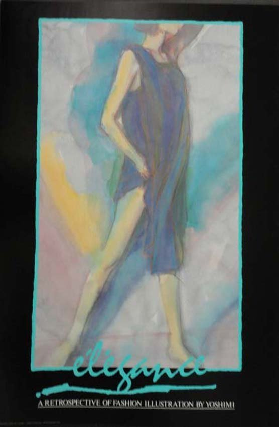 Elegance yoshimi fashion illustraion exhibition poster