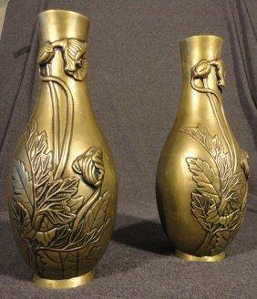 Bronze Art Nouveau vases (Set of 2)