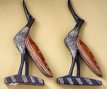 Haitian Wood-Carved Ducks (Set of 2)