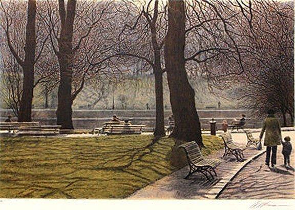 Montsouris le lac by Harold Altman