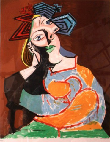 Femme Accoudee (Leaning Woman, 1937) by Pablo Picasso