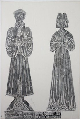 Medieval Tomb Rubbing by Donald R McNew English