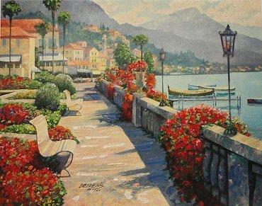 Along Lake Como I by Howard Behrens