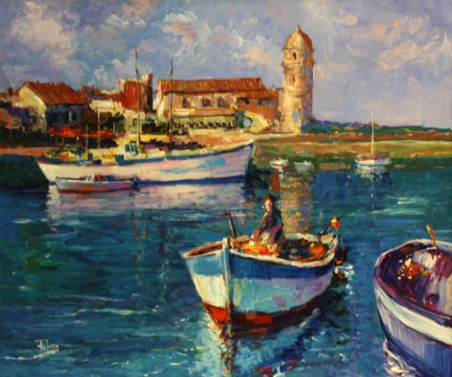 Collioure Boats (France) by Alex Perez