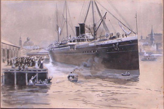 Departure from Sydney (1890) by Arthur Collingridge