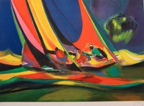 Deux Voiliers by Marcel Mouly