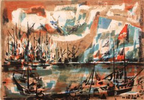 Early Habour by Marcel Mouly