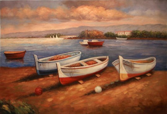 Fishing Boats by Unknown