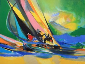 Four Yachtsmen by Marcel Mouly
