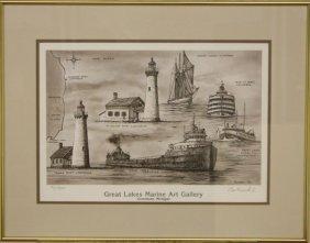 Great Lakes Marine Art Gallery by Leo Kuschel