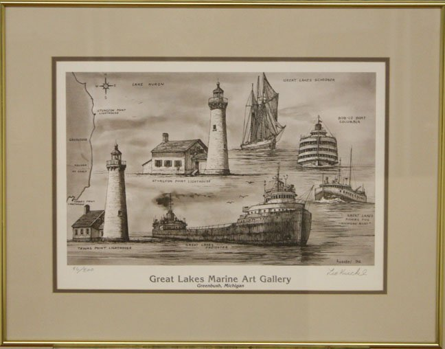 Great Lakes Marine Art Gallery by Leo Kuschel
