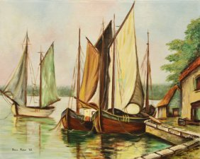 Harbour Scene (1962) by Donna Fahner