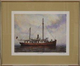 Lake Huron Light Vessel No. 61 by Leo Kuschel