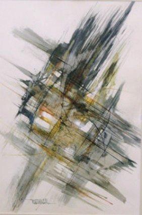 Abstract Watercolor by Leonardo Nierman