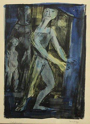 Blue Figures by Pierre Jerome
