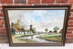 "Vintage BH Slotman Oil On Canvas 41""x29"""