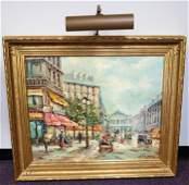 Oil Painting of Paris by M. Torrens