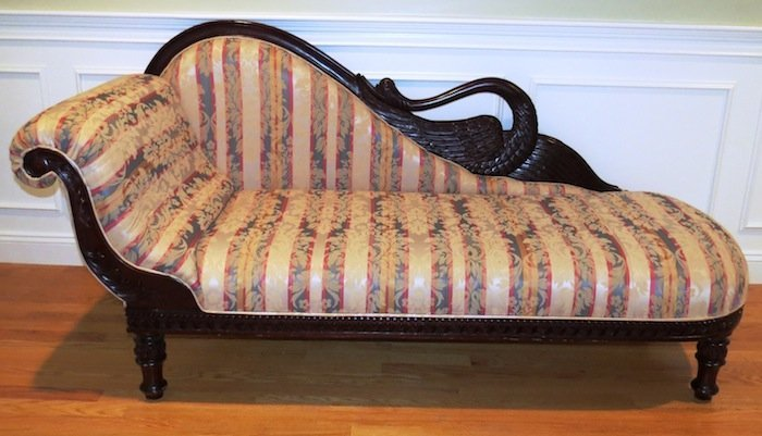 Vintage Carved Swan Parlor Chaise Lounge : chaise lounge vintage - Sectionals, Sofas & Couches