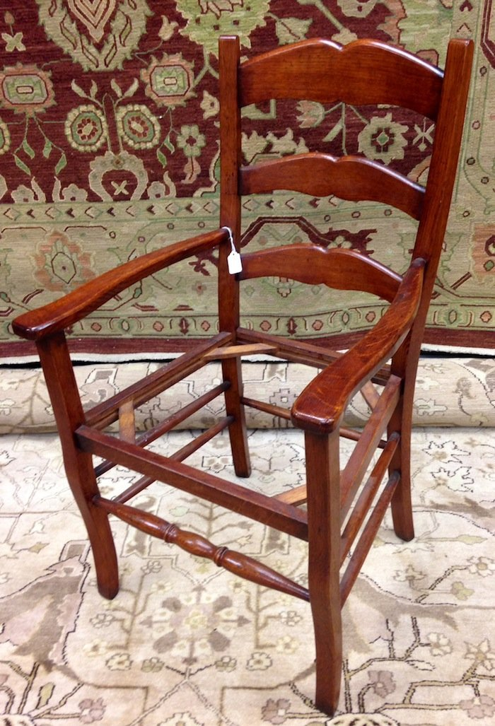 Set of 3 Unupholstered Cherry Queen Anne Dining Chairs - 5
