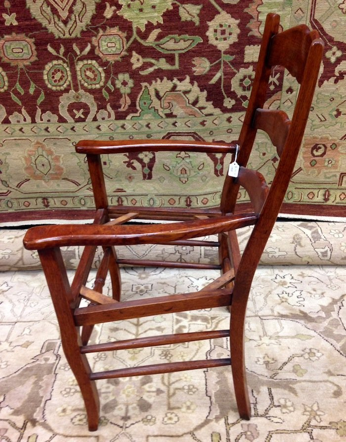 Set of 3 Unupholstered Cherry Queen Anne Dining Chairs - 6