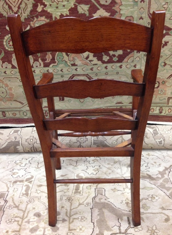 Set of 3 Unupholstered Cherry Queen Anne Dining Chairs - 7