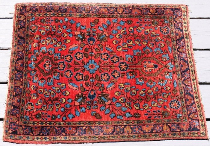 """Red and Blue Oriental Rug 30""""x24"""" Made in Iran"""