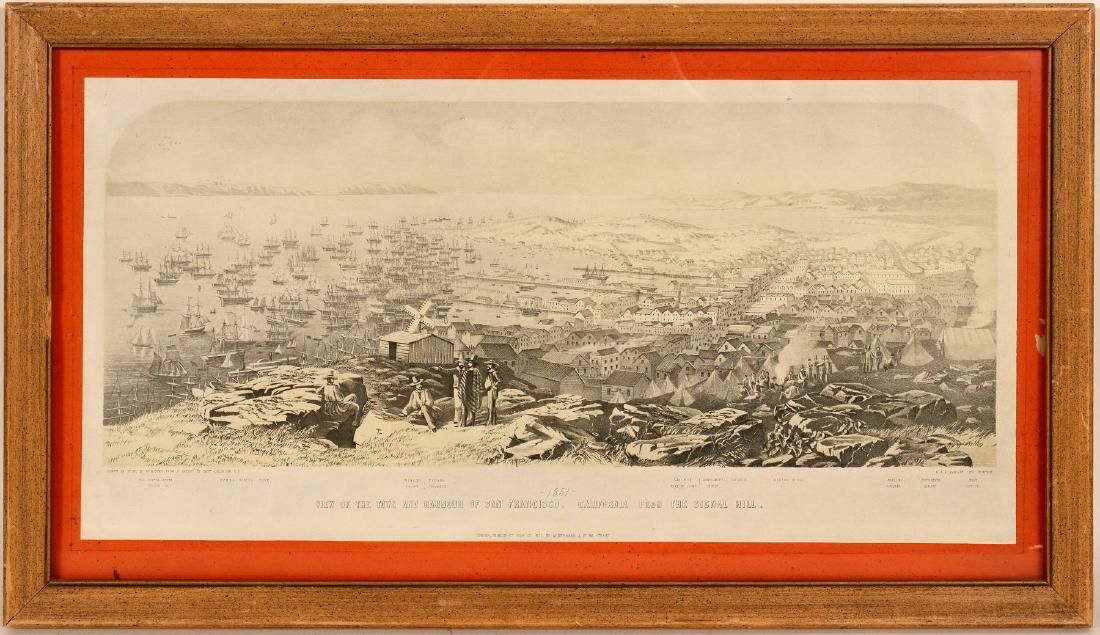 Print / View of San Francisco, From Signal Hill / 1851