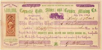 Coquette Gold, Silver & Copper Mining Co. Stock