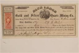 Blue Ledge Gold & Silver Quartz Mining Co. Stock