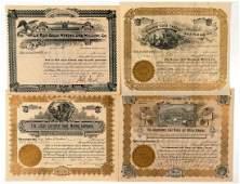 Four Different Cripple Creek Mining Stock Certificates